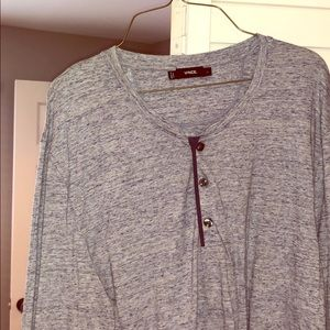 Vince Blue/Gray Henley Never Worn w/o Tags Sz L